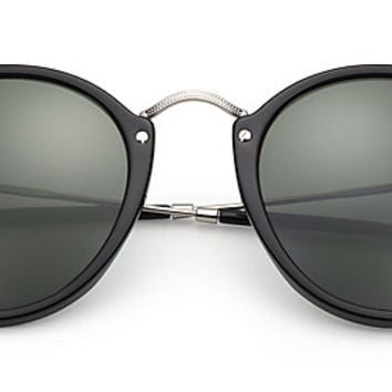 Ray-Ban RB2447 901 49-21 ROUND FLECK Black sunglasses | Official Online Store US