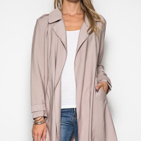Dusty Pink Midi Trench Coat
