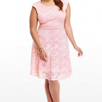 Plus Size Melanie Lace Flare Dress | Fashion To Figure