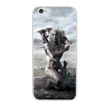 Exclusive Artist Game Of Thrones Daenerys Targaryan Inspired iPhone 7 8 X 10 Case