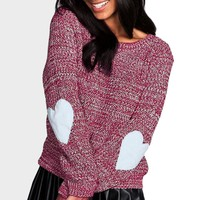 2017 New Spring Autumn Knitted Sweater Pullover Women Hearted Sleeve Loose  Thin Loose Solid Casual Jumper Knitwear Outwear