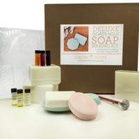 Deluxe DIY Goat Milk Soap Making Kit - Create up to 16 bars of soap