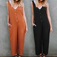 Jumpsuit Loose Casual Street wear Romper