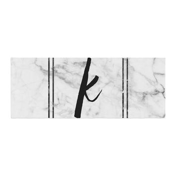 "KESS Original ""Gray Marble Monogram"" Bed Runner"