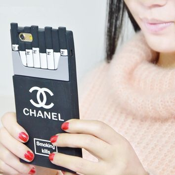 chanel fashion personality cigarette iphone phone cover case for iphone 6 6s 6plus 6s plus 7 7plus