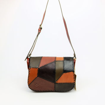 Patricia Nash Positano Patchwork Leather Messenger
