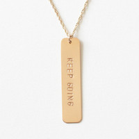 Keep Going - Gold Bar Necklace