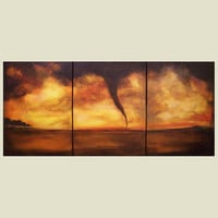 Twister tornado Large Contemporary Art by ContemporaryEarthArt