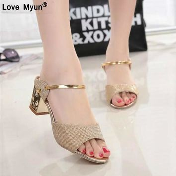 2018 Hot Summer Pump High Heel Wedge Sexy Platform Slip On Women Lady Shoes Slipper Sandal baleriny Moccasin Zapatos Mujer 458