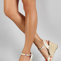 Juliette Floral Wedges