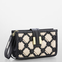 betty faux leather clutch