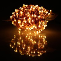 40m 400 LED Outdoor Christmas Fairy Lights Warm White Copper Wire LED String Lights Starry Light+Power Adapter(UK US EU AU Plug)