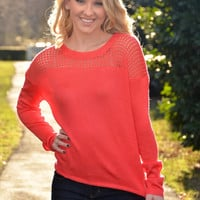 Coral is the Color top