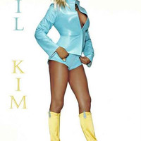Lil Kim Blue and Gold Portrait Poster 11x17