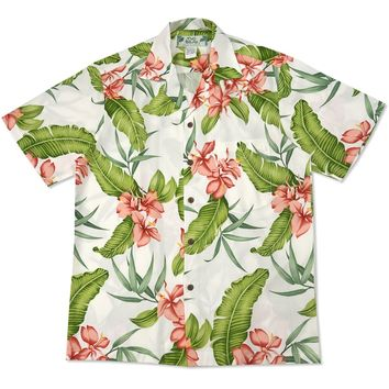 light hawaiian aloha rayon shirt