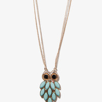 Bejeweled Owl Necklace | FOREVER 21 - 1019336010