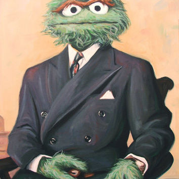 Sir Oscar Grouch Art Print by Hillary White