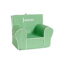 Kelly Green with White Piping Anywhere Chair | Pottery Barn Kids