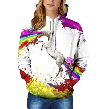3D Hoodies Unicorn Print