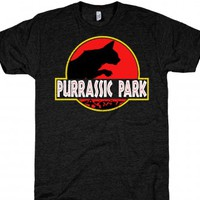 Purassic Park-Unisex Athletic Black T-Shirt