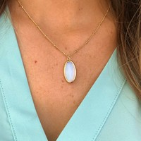 So Dainty Necklace: Opal/Gold