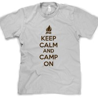 Keep Calm and Camp On | Funny Camping Shirt