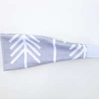 Fitness/Yoga Bands - Grey & White Arrows