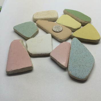 10 extra Large Beach Tiles sea glass beach glass supplies texas sea supplies, beach supplies, sea crafting, sea supplies, craft supplies