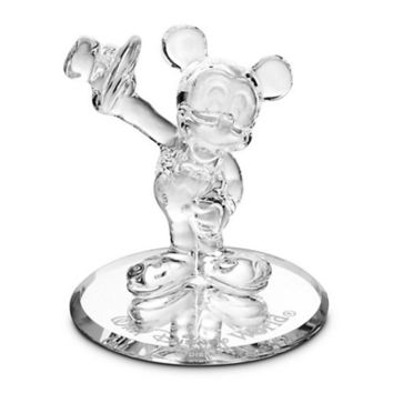 Disney Parks Mickey Mouse Tuxedo Glass Figurine by Arribas Brothers New with Box