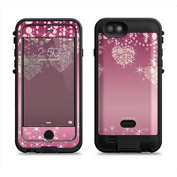 The Pink Sparkly Chandelier Hearts Apple iPhone 6/6s LifeProof Fre POWER Case Skin Set