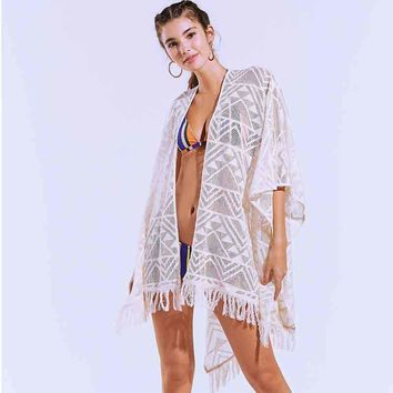 Bikini Cover Up Beach Dress Robe For Kaftans The Summer Outputs Women Towel Ups 2018 Loose Big Yards Lace Outside Swimsuit Woman
