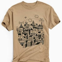 UO Artist Editions Nate Otto Fly Town Tee - Urban Outfitters