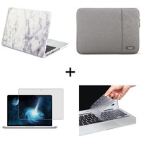 New Rubberized Matte Case Cover Sleeve for Apple MacBook 11Air 13 pro retina 15 12 inch laptop tas and keyboard cover