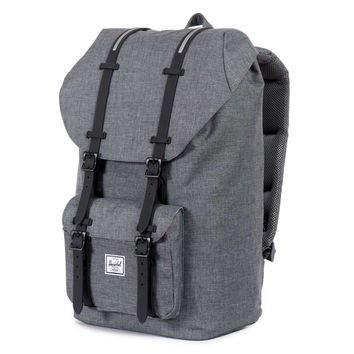 Herschel Supply Co.: Little America Backpack - Charcoal Crosshatch / Black Insert Rubber