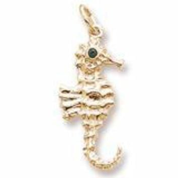 Seahorse Charm in Yellow Gold Plated