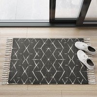 Black Geometric Woven Accent Rugs 2'X3' - Project 62™