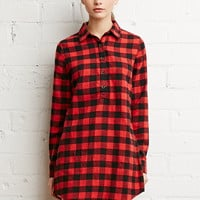 Buffalo Plaid Shirt Dress | Forever 21 - 2000174168