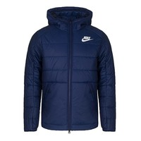 NIKE Winter Classic Fashion Men Casual Hoodie Warm Zipper Cardigan Cotton Jacket Coat Windbreaker Blue
