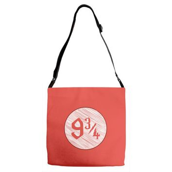 9 3 4 nine three quarters harry potter hogwarts Adjustable Strap Totes
