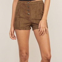 Faux Suede Short