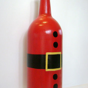 Painted Wine Bottles For Christmas Easy Craft Ideas