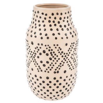 Cream & Black Dotted Vase | Hobby Lobby | 1656461