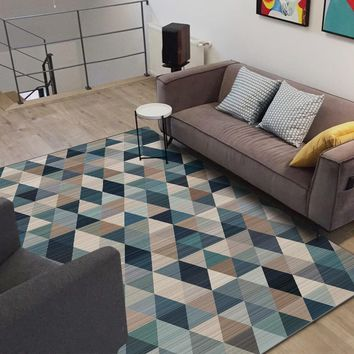 Autumn Fall welcome door mat doormat Fashion Nordic Style Geometric Triangles Blue Wine Coffe  Bathroom Parlor Living Room Bedroom Decorative Carpet Area Rug AT_76_7