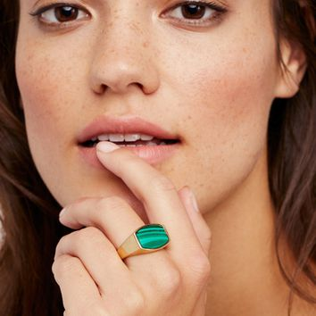 Free People Archie Stone Signet Ring
