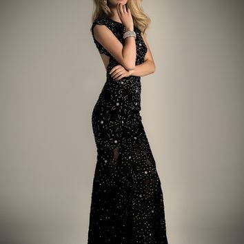 Lace Studded Dress with Sweeping Train from Camille La Vie and Group USA
