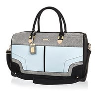 River Island Womens Blue split color weekend bag