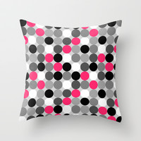 Cute retro dots  Throw Pillow by Silvianna