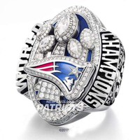 BIFAJAJA Drop shipping New Arrival 2017 Replica Super Bowl New England Patriots Championship Ring