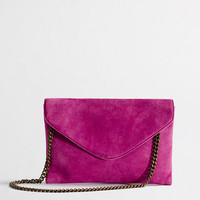Factory chainlink suede envelope purse