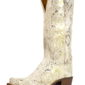Lucchese Women's Stone Python Print Boot